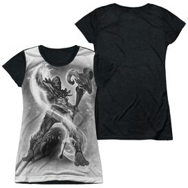 Masters Of The Universe Skeletor B&W Short Sleeve Junior Poly Black Back T-Shirt