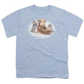 Wildlife Playful Kittens Short Sleeve Youth Light T-Shirt