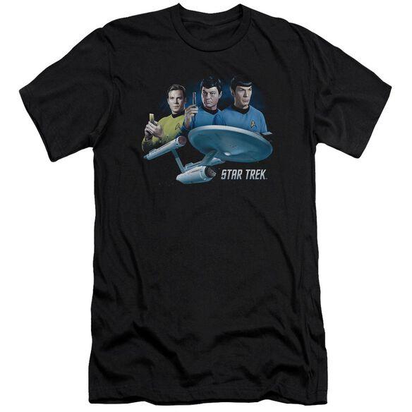 Star Trek Main Three Premuim Canvas Adult Slim Fit