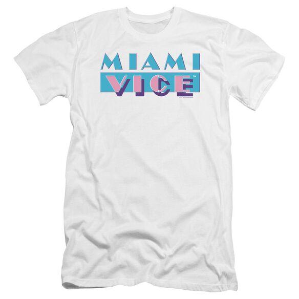 Miami Vice Logo Premuim Canvas Adult Slim Fit