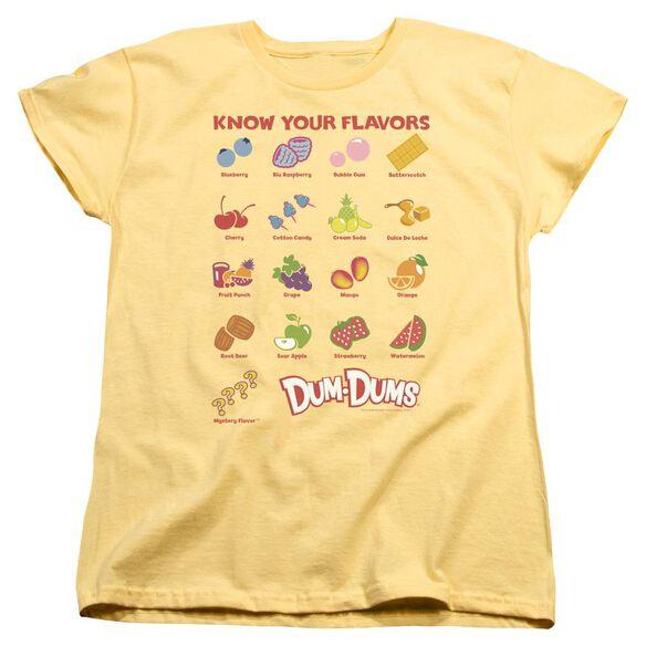 Dum Dums Flavors Short Sleeve Womens Tee T-Shirt