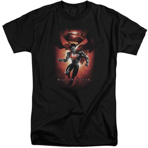 Man Of Steel Title Short Sleeve Adult Tall T-Shirt