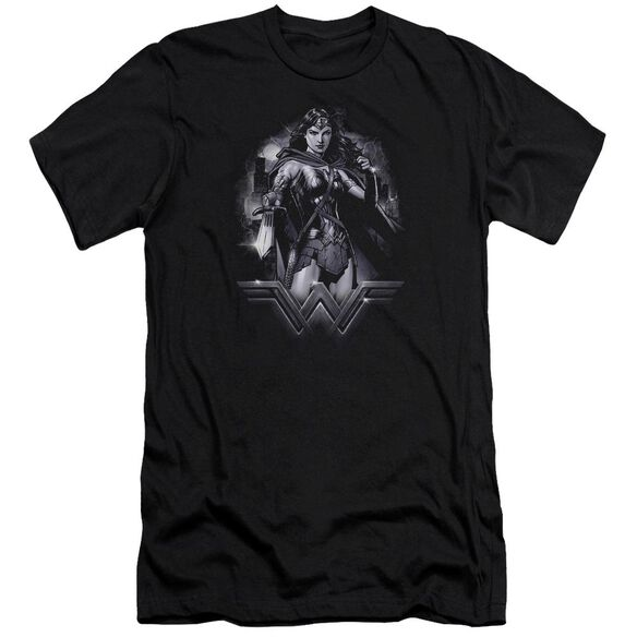 Batman Vs Superman Rainy Night Short Sleeve Adult T-Shirt
