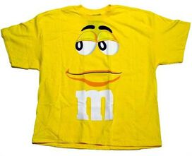 Yellow M and M Tee