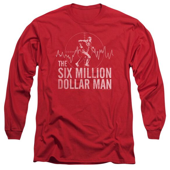 Six Million Dollar Man Target Long Sleeve Adult T-Shirt