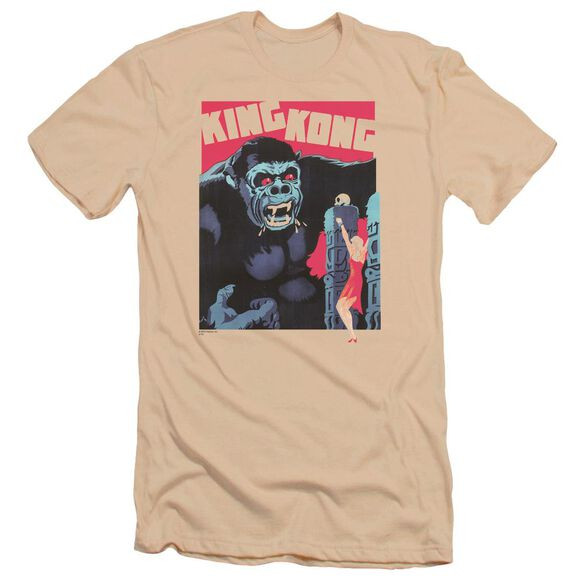 King Kong Bright Poster Premuim Canvas Adult Slim Fit