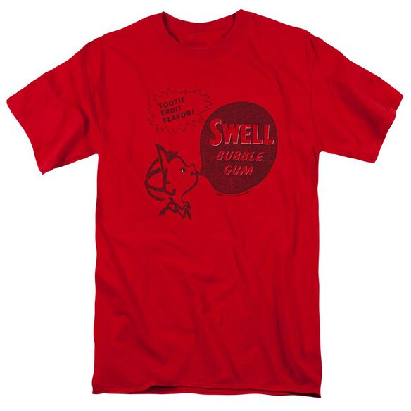 Dubble Bubble Swell Gum Short Sleeve Adult Red T-Shirt