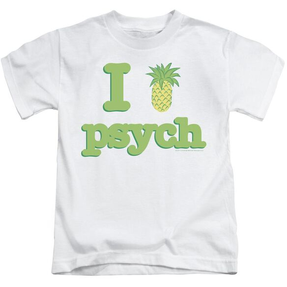 Psych I Like Psych Short Sleeve Juvenile White Md T-Shirt