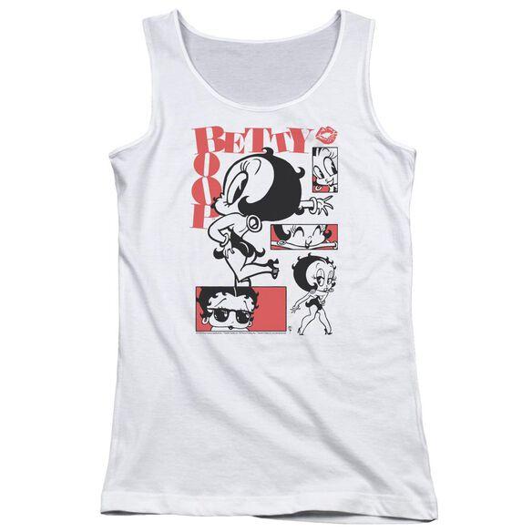 Betty Boop Stylin Snaps Juniors Tank Top
