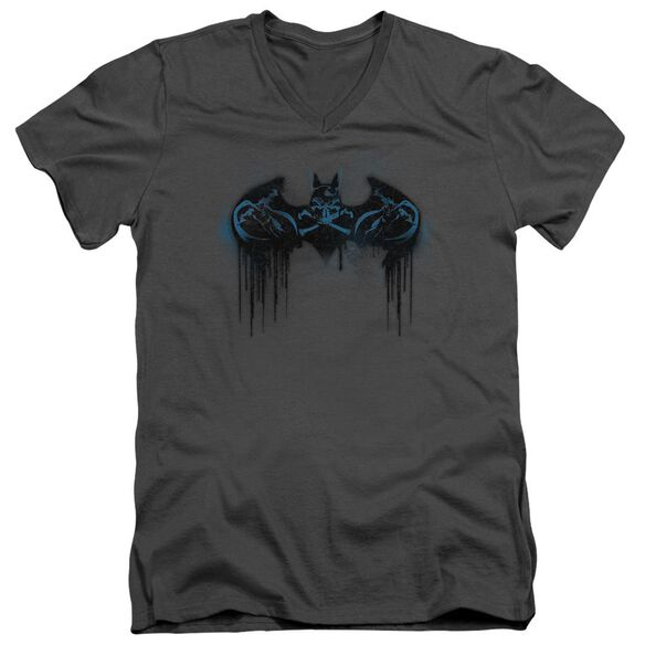 Batman Run Away Short Sleeve Adult V Neck T-Shirt