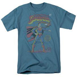 Superman Aofm #424 Cover Short Sleeve Adult Slate T-Shirt