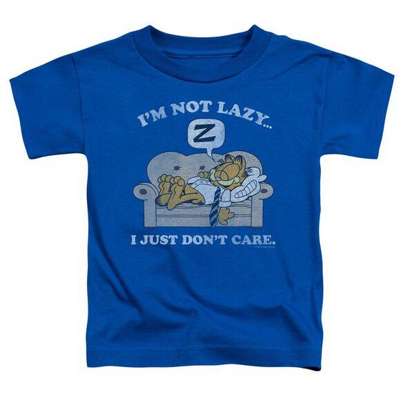 GARFIELD NOT LAZY - S/S TODDLER TEE - ROYAL BLUE - T-Shirt