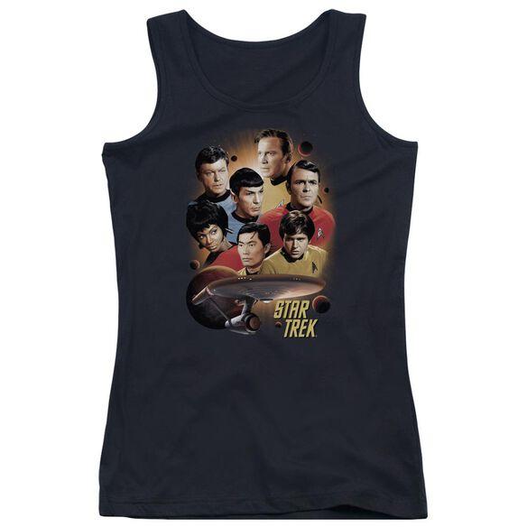 Star Trek Heart Of The Enterprise - Juniors Tank Top - Black