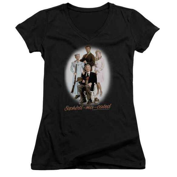 Beverly Hillbillies Sophistimacated Junior V Neck T-Shirt