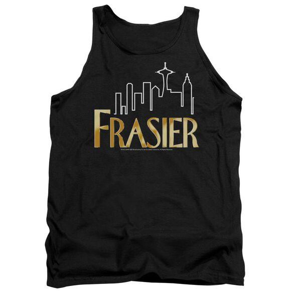 Frasier Frasier Logo - Adult Tank - Black