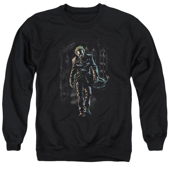 Batman Joker Leaves Arkham - Adult Crewneck Sweatshirt - Black