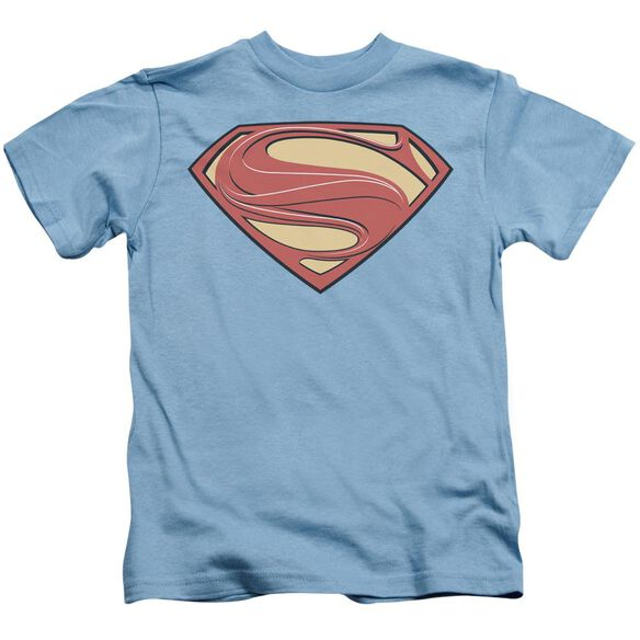 Man Of Steel New Solid Shield Short Sleeve Juvenile Carolina Blue Md T-Shirt