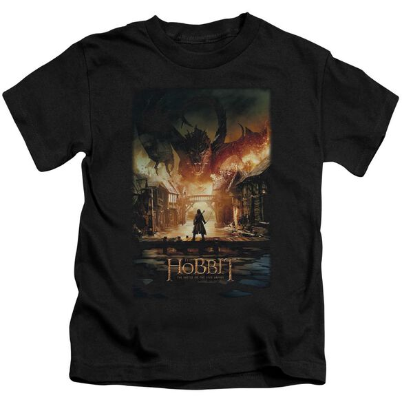 Hobbit Smaug Poster Short Sleeve Juvenile T-Shirt