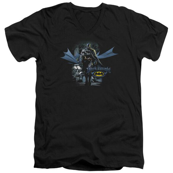 Batman From The Depths Short Sleeve Adult V Neck T-Shirt