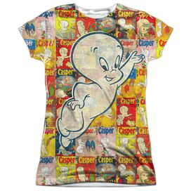 Casper Covered Short Sleeve Junior Poly Crew T-Shirt