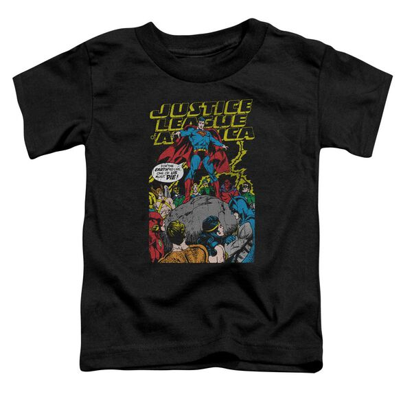 Jla Ultimate Scarifice Short Sleeve Toddler Tee Black T-Shirt