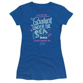 Back To The Future Under The Sea Short Sleeve Junior Sheer Royal T-Shirt