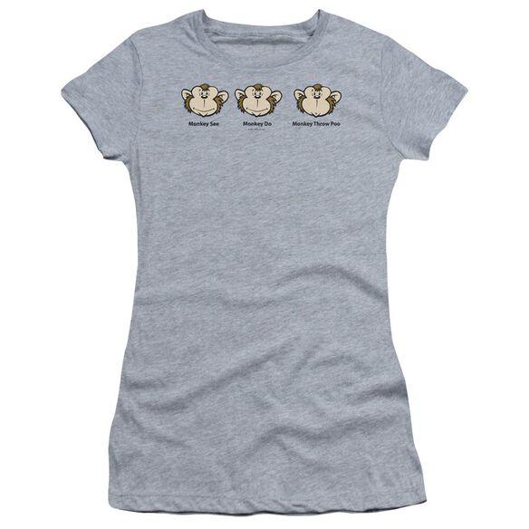 Monkey See... Short Sleeve Junior Sheer Athletic T-Shirt