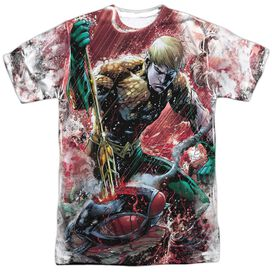 Jla Aquaman Vs Manta Short Sleeve Adult Poly Crew T-Shirt