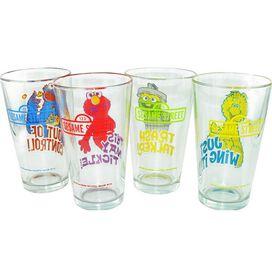 Sesame Street Characters Pint Glass Set