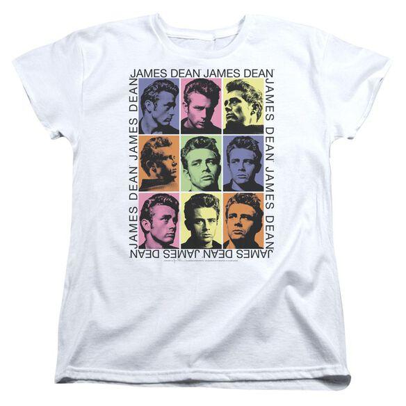 Dean James Color Block Short Sleeve Womens Tee T-Shirt
