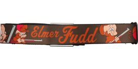 Looney Tunes Elmer Fudd Name Brown Seatbelt Mesh Belt