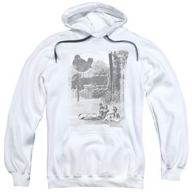 Woodstock Hippies In A Field Adult Pull Over Hoodie