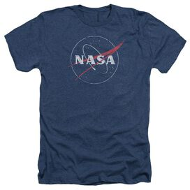 Nasa Distressed Logo Adult Heather