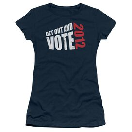 Get Out And Vote Short Sleeve Junior Sheer T-Shirt