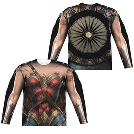 Wonder Woman Movie Wonder Uniform (Front Back Print) Long Sleeve Adult Poly Crew T-Shirt