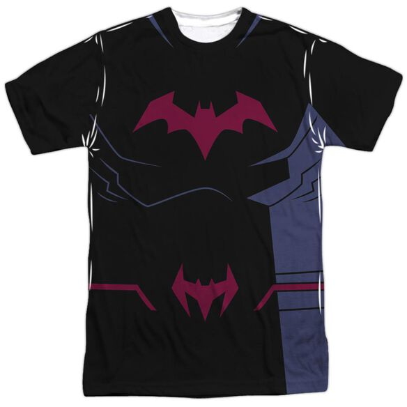 Batman Unlimited Batman Black Uniform Short Sleeve Adult Poly Crew T-Shirt