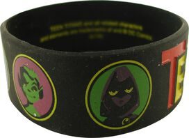 Teen Titans Circled Heads Rubber Wristband