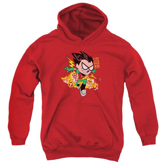 Teen Titans Go Robin Youth Pull Over Hoodie