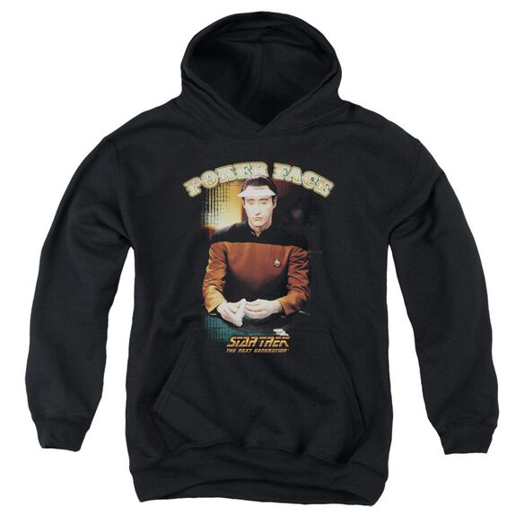 Star Trek Poker Face Youth Pull Over Hoodie
