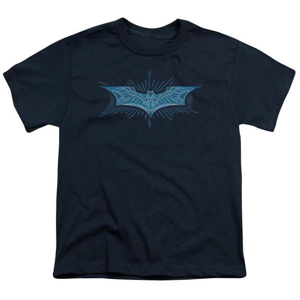 Dark Knight Bat Armor Logo Short Sleeve Youth T-Shirt