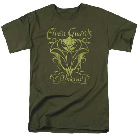 Hobbit Guards Of Mirkwood Short Sleeve Adult Military Green T-Shirt