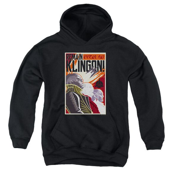 Star Trek Discovery Remain Klingson Poster Youth Pull Over Hoodie