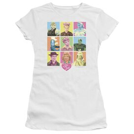 I Love Lucy So Many Faces Short Sleeve Junior Sheer T-Shirt