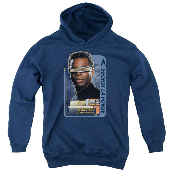 Star Trek Geordi Laforge Youth Pull Over Hoodie