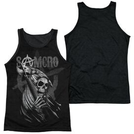 Sons Of Anarchy Somcro Reaper Adult Poly Tank Top Black Back