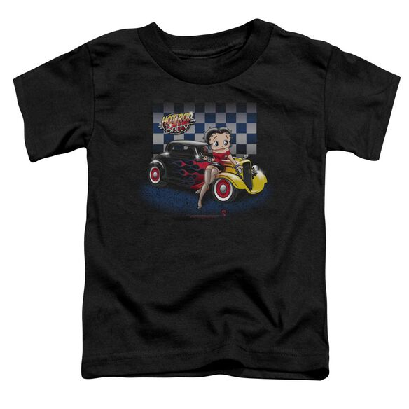 Betty Boop Hot Rod Boop Short Sleeve Toddler Tee Black Sm T-Shirt