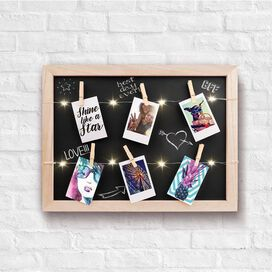 Light Up LED Photo Clip Chalkboard
