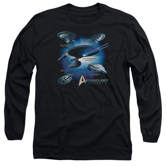 Star Trek Starfleet Vessels Long Sleeve Adult T-Shirt