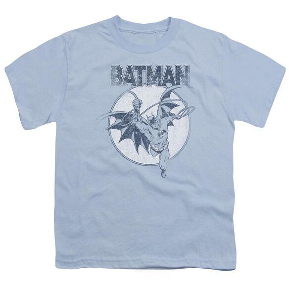 Batman Swinging Bat Short Sleeve Youth Light T-Shirt