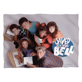 Saved By The Bell Group Shot Pillow Case White